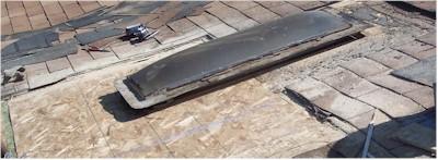 New osb sheathing installed