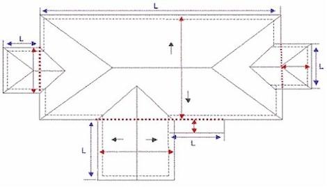 measure roofing blueprints