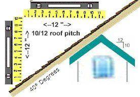 10/12 Roof Pitch 40° Degrees