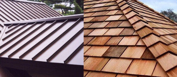 Perfect Aluminum And Versus Wood Shake Roof
