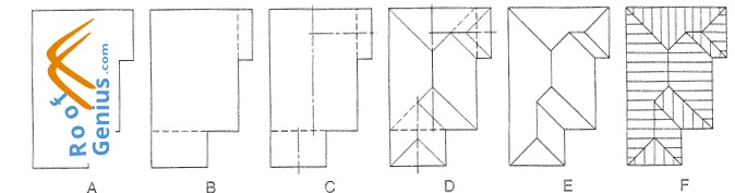 HİP ROOF PLAN and building